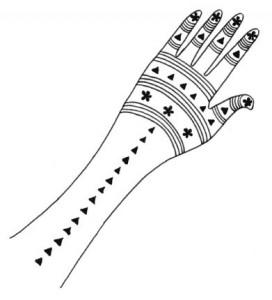 Henna Design on Paper  2011