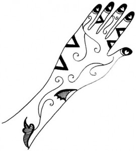 Pakistani Bridal Mehndi Design Sketchs