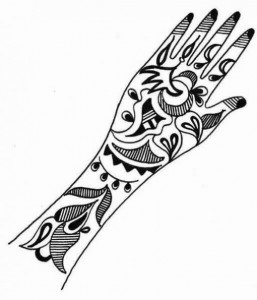 Mehndi Design Sketch for Girl