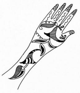 Full Hand Mehndi Design Sketch