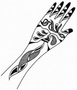 Mehndi Design Sketch for Inside Hand
