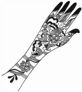 Mehndi Design Sketchs For Wedding