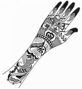 Full Hand & Arm Mehndi Design Sketch