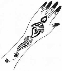 Wedding Mehndi Design Sketch For Hands