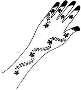 Pakistani Mehndi Design Sketch for Hand
