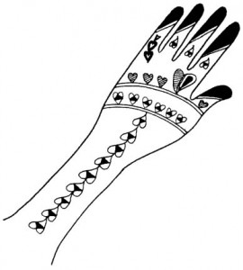 Cute Mehndi Design Sketch Photo