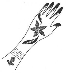 Mehndi Design Sketch Pictures
