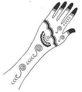 Mehndi Design Sketch for Both Hands