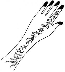 Pakistani Bridal Mehndi Sketch 2011