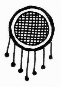 Cute Mehndi tattoo design sketch on Paper Photo