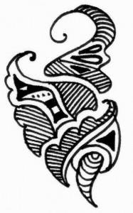 Pakistani Mehndi tattoo design sketch on Paper