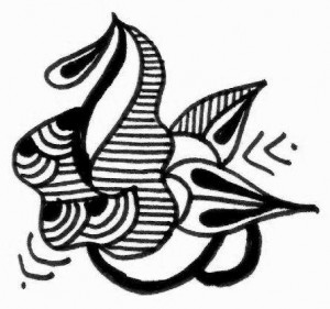 Pakistani Bridal Mehndi tattoo design sketch on Paper