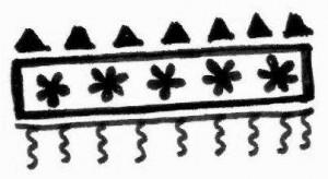 Latest Mehndi tattoo design sketch on Paper