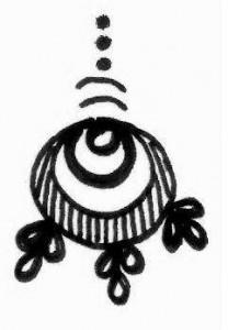 New Mehndi tattoo design sketch on Paper