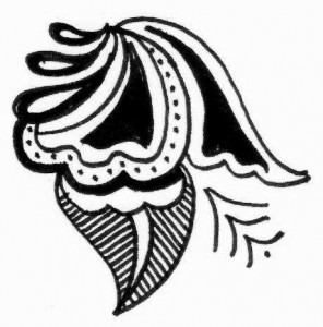 Mehndi tattoo design sketch on Paper