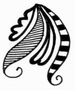 Wedding Mehndi tattoo design sketch