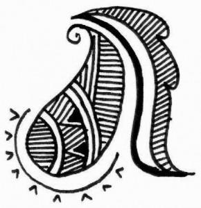 Latest Mehndi tattoo design sketch