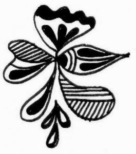 Mehndi tattoo design sketch for Girl