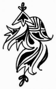 New Bridal Mehndi tattoo design sketch 2011
