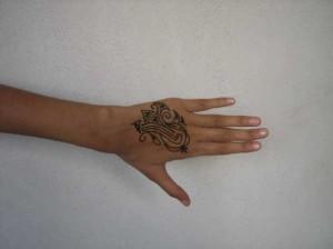 Beautiful Mehndi tattoo design