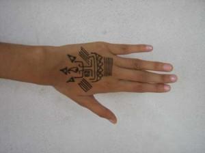 Cute Mehndi tattoo design  Photo