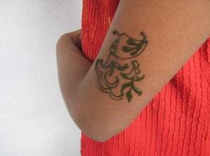 Latest Mehndi tattoo design