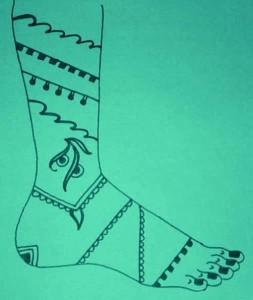 Leg Henna Designs Sketch