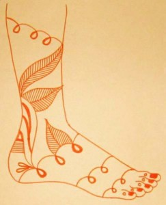 Mehndi Design Sketch Pictures