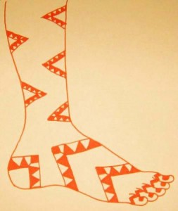Latest Mehndi Design Sketch for Leg