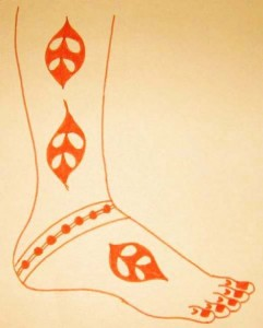 New Mehndi Design Sketch for Legs