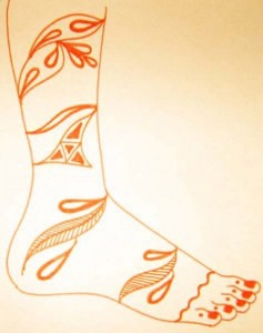 Mehndi Design Sketch For Leg