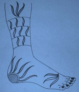 New Bridal Mehndi Sketch For Leg 2011
