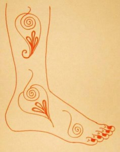 Wedding Mehndi Designs on Paper For Legs