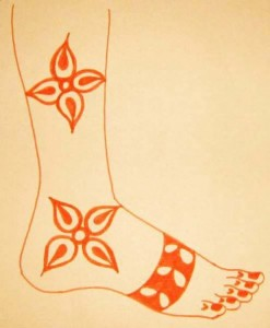 Beautiful Mehndi Designs on Paper