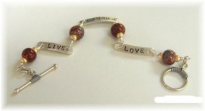Live Laugh Love Sterling Bracelet
