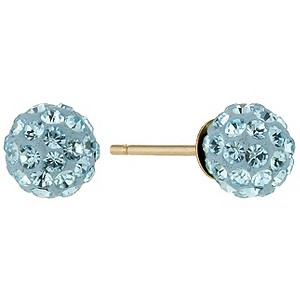 March Birthstone Crystal Stud Earrings