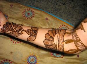 Mehandi Design for Arm