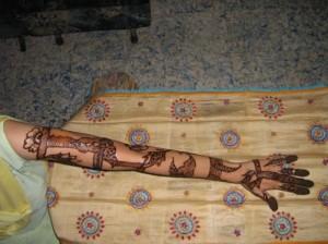 Full Hand & Arm Henna Design