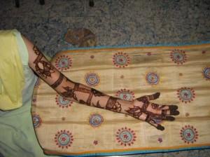 Full Hand & Arm Mehandi Design
