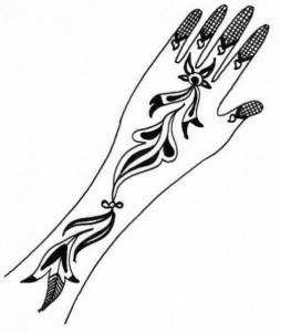 Wedding Mehndi Design Sketch For Hands