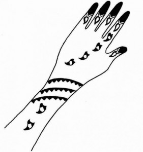 Mehndi Design Sketch for Both Hands