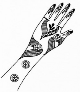 New Mehndi Design Sketch for Hands