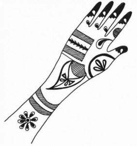 Mehndi Design Sketch for Hand