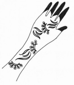 Full Hand Mehndi Design Sketch