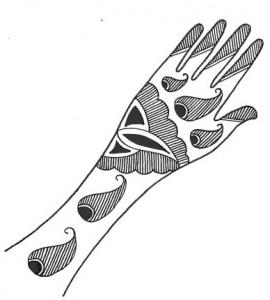 Mehndi Design Sketch for Outside Hands