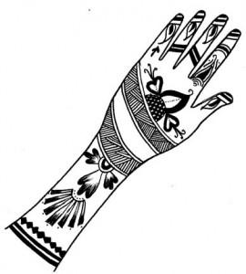 New Mehndi Design Sketch for Hands
