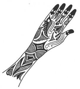 Beautiful Hand Mehndi Sketch