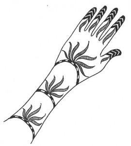 Mehndi Design Sketch for Girl