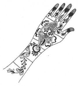 New Bridal Mehndi Sketch 2011