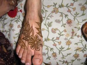 Mehandi Desigsn for Foot